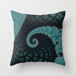 Windows to the Soul - Fractal Art Throw Pillow