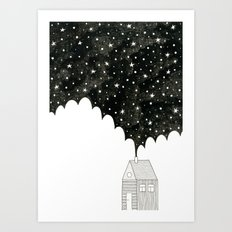 House in the Night Art Print