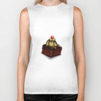 cake Biker Tanks featuring Cake by Tatyana Adzhaliyska