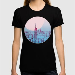 Sun In The City Skyline Design T-shirt