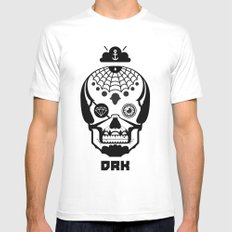 Mexican Skull White Mens Fitted Tee MEDIUM