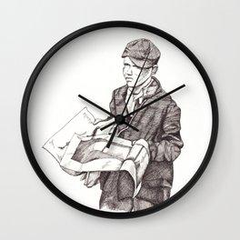 Newsboy Wall Clock