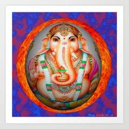 Ganesh sun Art Print