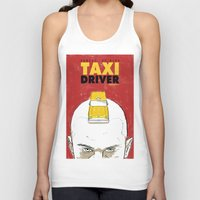 taxi driver Tank Tops featuring Taxi Driver by Matthew Bartlett