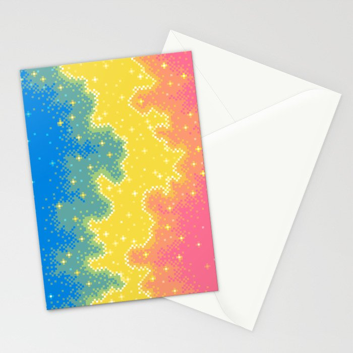 Pan Pride Flag Galaxy Stationery Cards