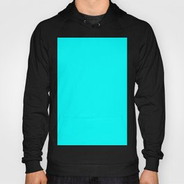 Neon Aqua Blue Bright Electric Fluorescent Color Hoody