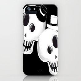 Dapper Skulls iPhone Case
