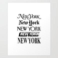 I Heart New York City Black and White New York Poster I Love NYC Design Art Print