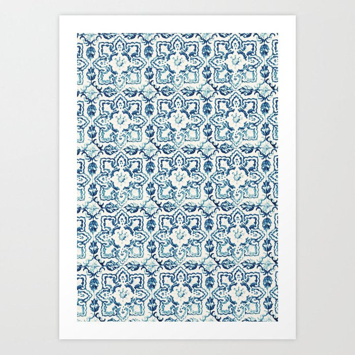 tile pattern IV - Azulejos, Portuguese tiles Art Print