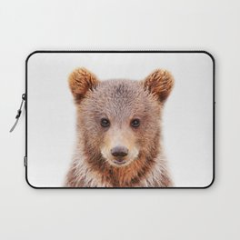 Baby Bear, Baby Animals Art Print By Synplus Laptop Sleeve