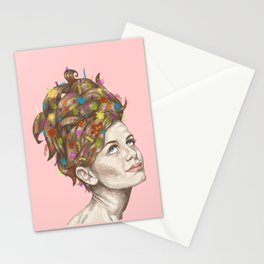 Hair Garden // twiggy with the cool hair Stationery Cards