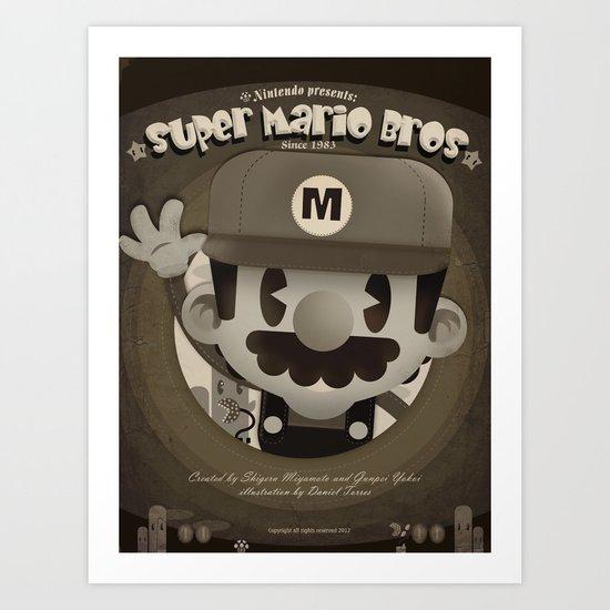 Mario Bros Fan Art Art Print