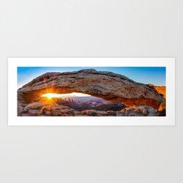 Canyonland Mesa Arch Morning Sunrise Panorama Art Print
