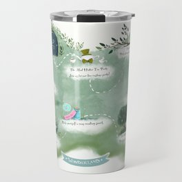 Wonderland map  Travel Mug