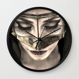 Neqab Portrait Wall Clock