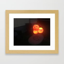 Halloween Lantern Framed Art Print