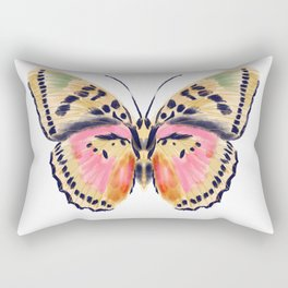 Butterfly Study no. 14 - butterfly art, watercolor butterfly, watercolor butterflies, painted butterfly, butterfly art, pink and yellow butterfly Rectangular Pillow