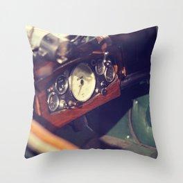 Classic Car Dashboard Throw Pillow