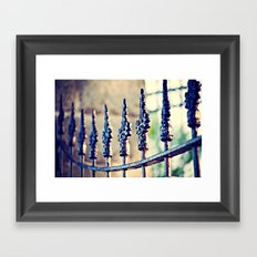 Fence Love Framed Art Print