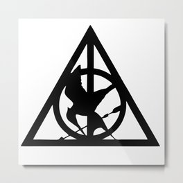 Deathly Hallows logo Metal Print
