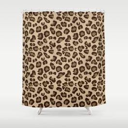 Leopard-Beige+Brown Shower Curtain