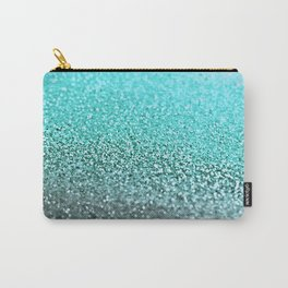 TEAL GLITTER Carry-All Pouch