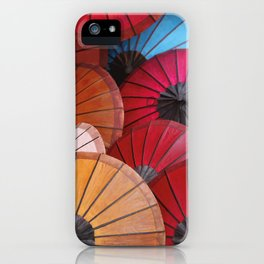 Paper Colored Umbrellas from Laos iPhone Case