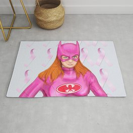 Batgirl Supports Breast Cancer Awareness Rug