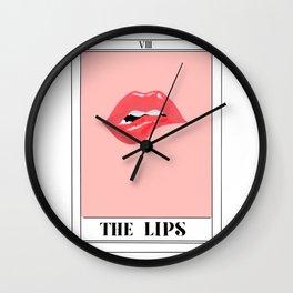 the lips tarot card Wall Clock