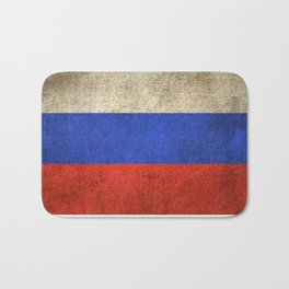 Old and Worn Distressed Vintage Flag of Russia Bath Mat