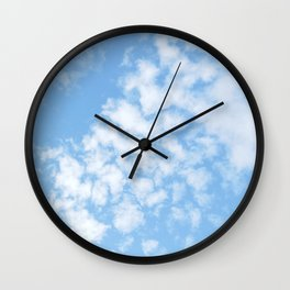 Summer Sky with fluffy clouds Wall Clock