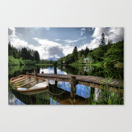 Tranquility At Loch Ard Canvas Print
