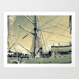 Maritime Spiderweb Art Print