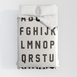 Typography Alphabet #2 Comforters