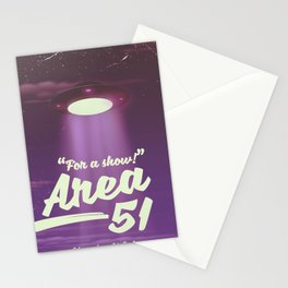"""For A Show"" Area 51 - Nevada U.S.A (Color) Stationery Cards"