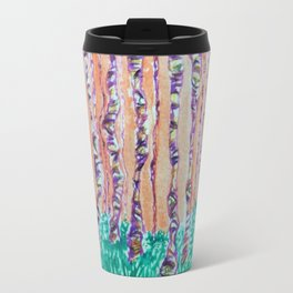 Autumn Aspens Watercolor Painting Travel Mug