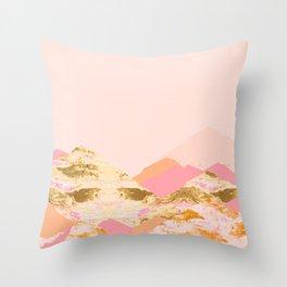Graphic Mountains S Throw Pillow