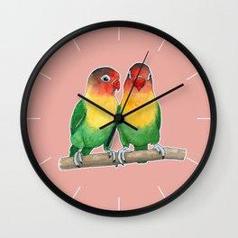 Fischer's lovebirds Wall Clock