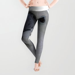 Ruffled Feathers Of A Blue Eyed Cockatoo Isolated Leggings