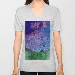 Hydrangea Blossom Unisex V-Neck