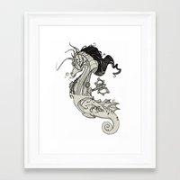 steam punk Framed Art Prints featuring Steam Punk Horse  by FlyingFrogIllustration