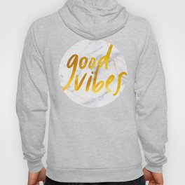 Good Vibes - Golden Lettering on Luxury Marble Hoody