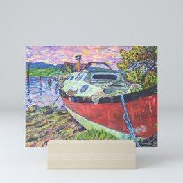 Claude's Boat Mini Art Print