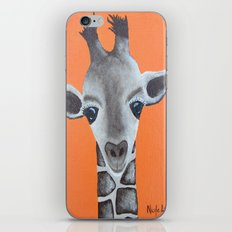 Baby Giraffe Orange Print. Animal Art animal print giraffe print kids room nursery art iPhone & iPod Skin