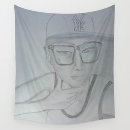 Where does she sit my muse. II Wall Tapestry