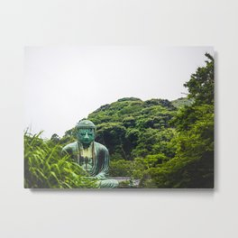 Great Buddha meditating in peace Metal Print