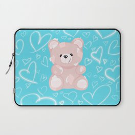 Patched Teddy Love Laptop Sleeve