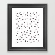 Grey Hedgehogs Framed Art Print
