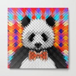 Geo Panda Metal Print