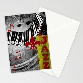 JAZZ PIANO KEYBOARD MUSIC Stationery Cards